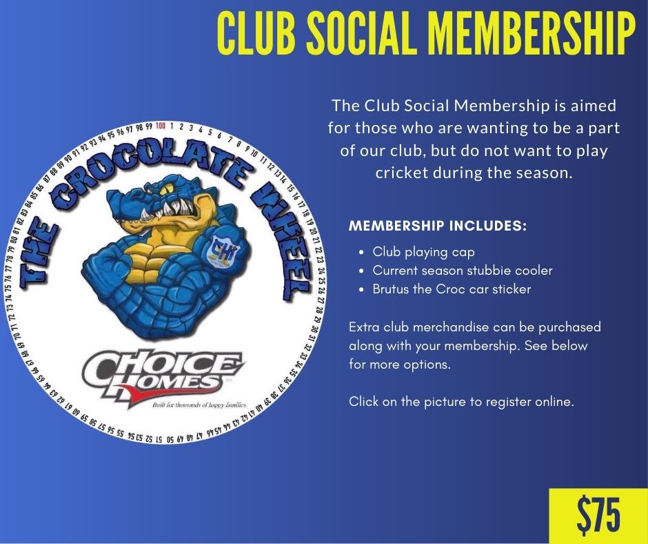 CHICC Crocs Shop Club Social Membership Cricket