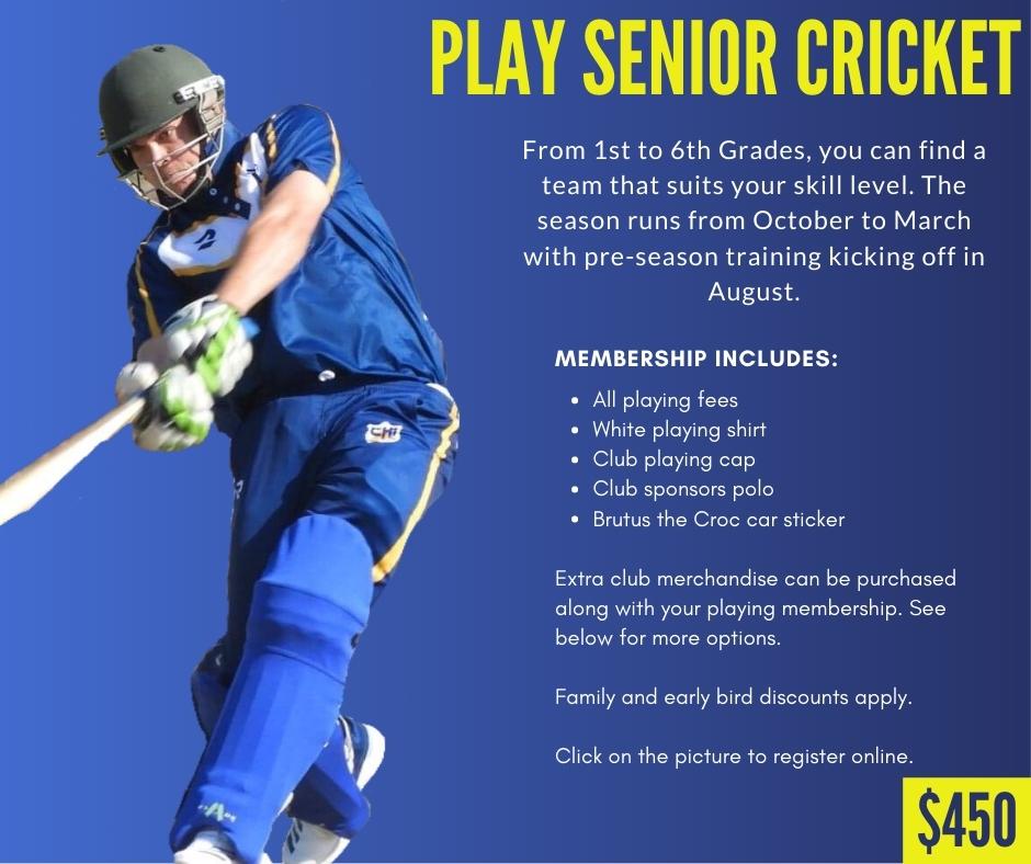 CHICC Crocs Shop Play Senior Cricket