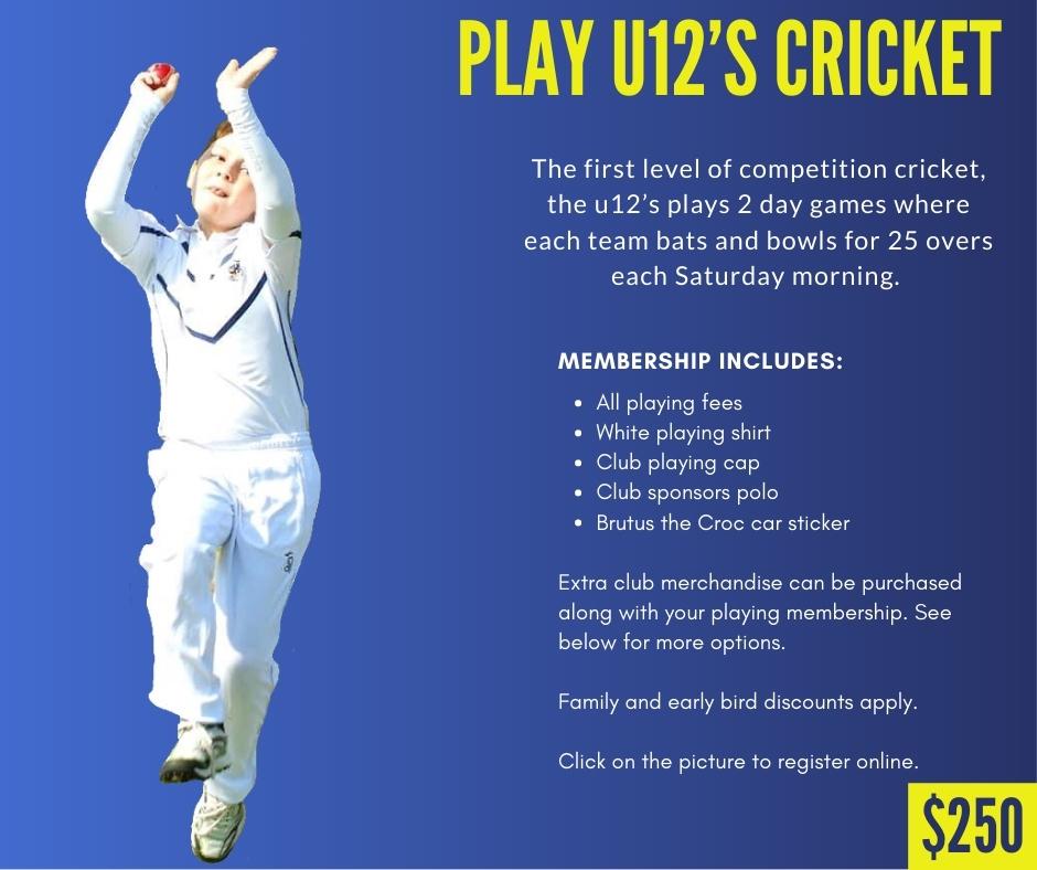 CHICC Crocs Shop Play u12s Cricket