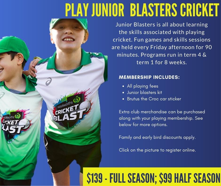 CHICC Crocs Shop Play Junior Blasters Cricket