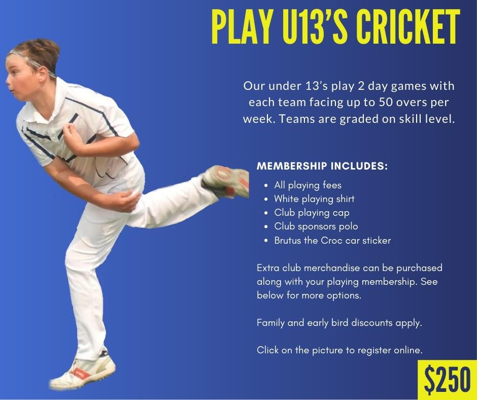 CHICC Crocs Shop Play u13s Cricket