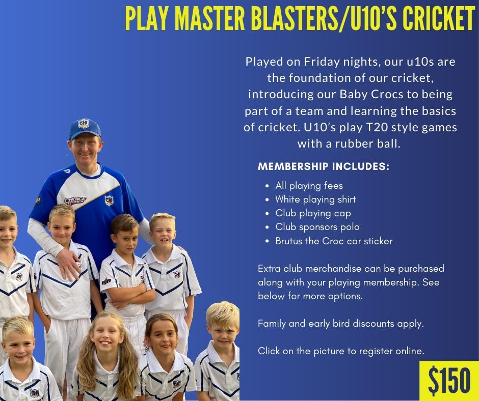 CHICC Crocs Shop Play Master Blasters/u10s Cricket