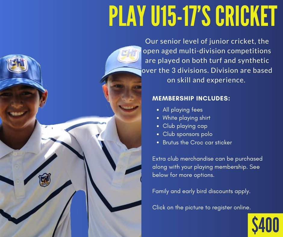 CHICC Crocs Shop Play u15-17s Cricket
